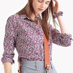 J Crew Slim Perfect Shirt Liberty Floral Size 4